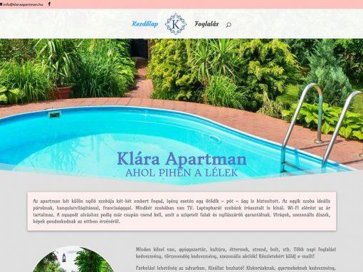 Klára Apartman – szentes – honlapja